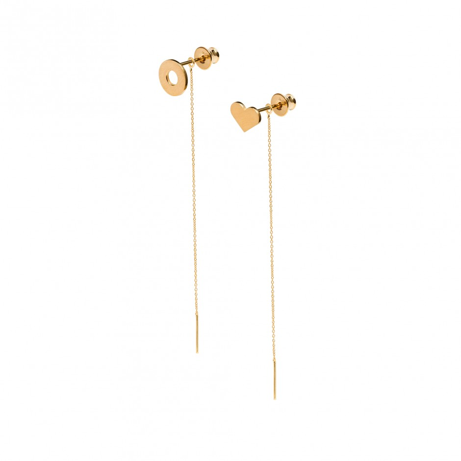 HOT EARRINGS 'DOUGHNUT + HEART'