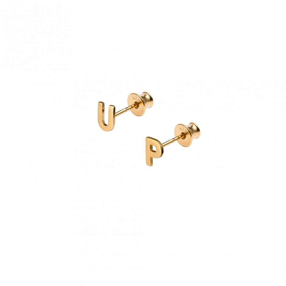 GOLD EARRINGS - 'UP'