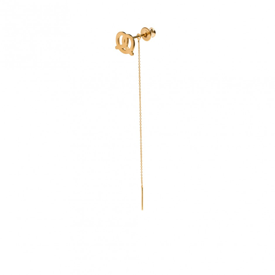 LONG EARRING 'PRETZEL'