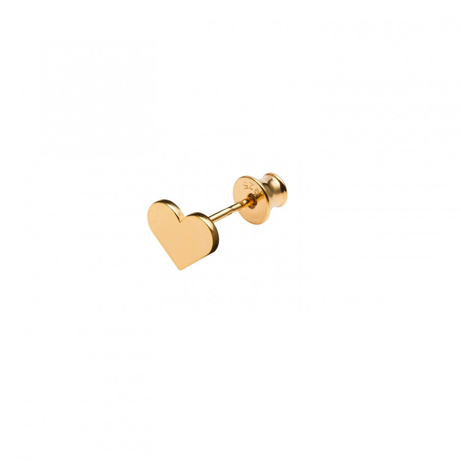 HOT STUD EARRING 'HEART'