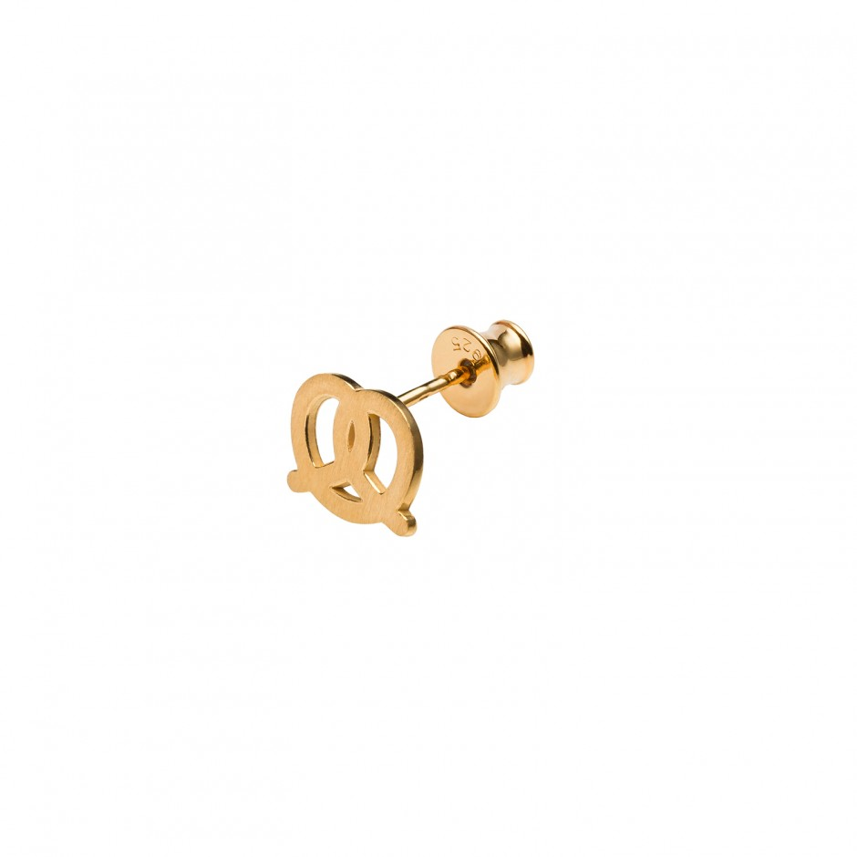 tiny plated earring jewellery earrings in modern gold silver pretzel made eu hot fashion treat stud