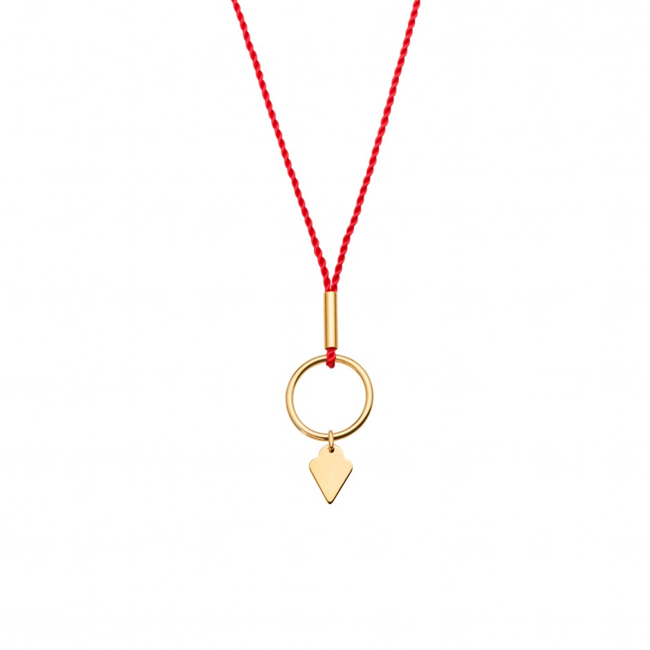 HAPPY NECKLACE 'ICE CREAM' - GOLD