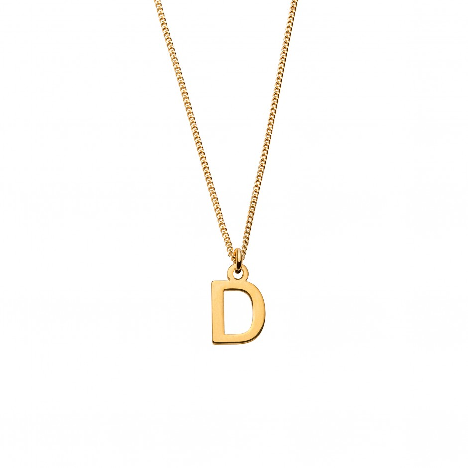 NECKLACE 'LETTER' IN GOLD