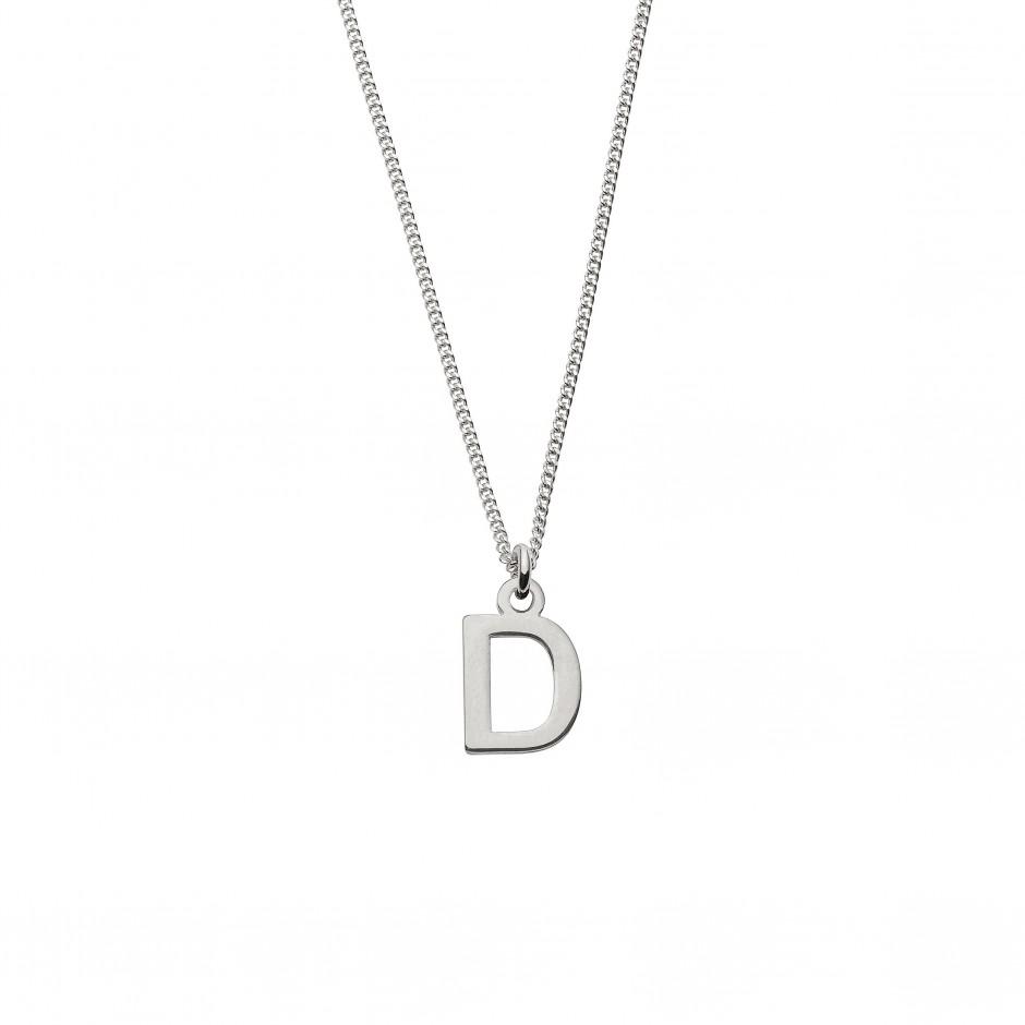 NECKLACE 'LETTER' IN SILVER