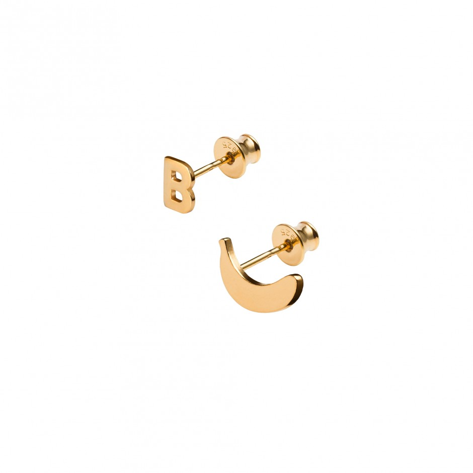 EARRINGS 'LETTER + BANANA'