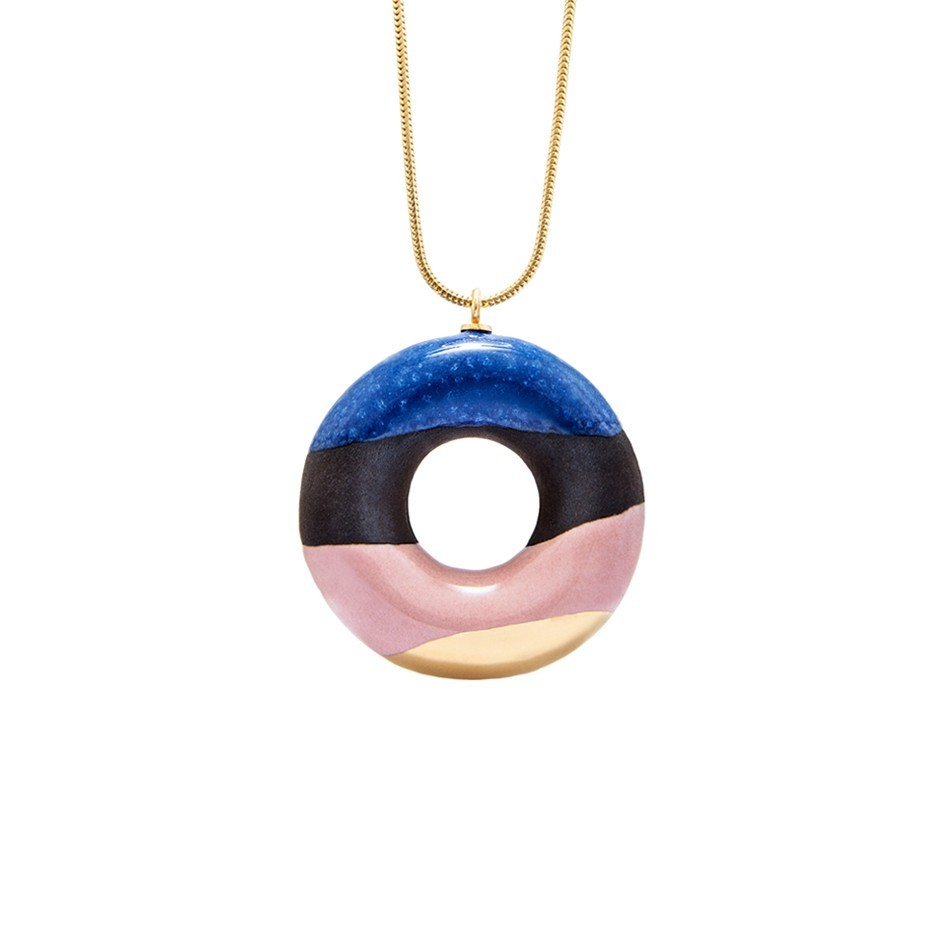 COCOA DOUGHNUT WITH BLUEBERRY, WILD STRAWBERRY AND GOLD GLAZE ––––––SOLD OUT