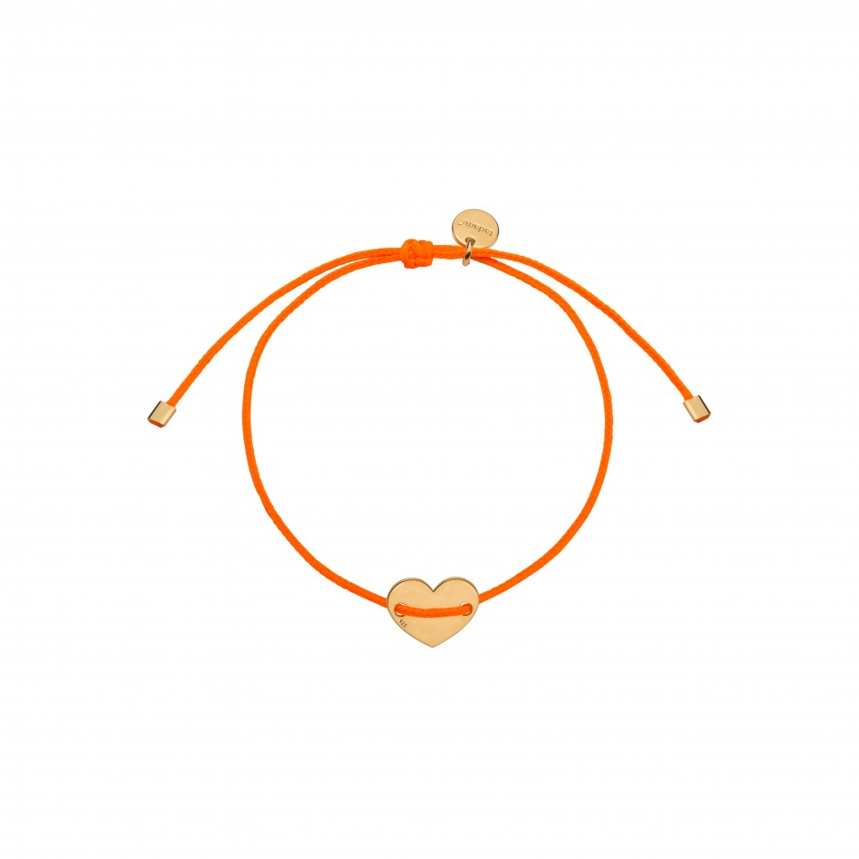 BRACELET 'NEONINETIES ORANGE' IN GOLD