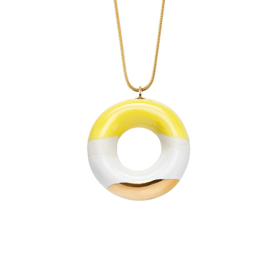 MILKY DOUGHNUT WITH LEMON, COCONUT AND GOLD GLAZE ––––––SOLD OUT