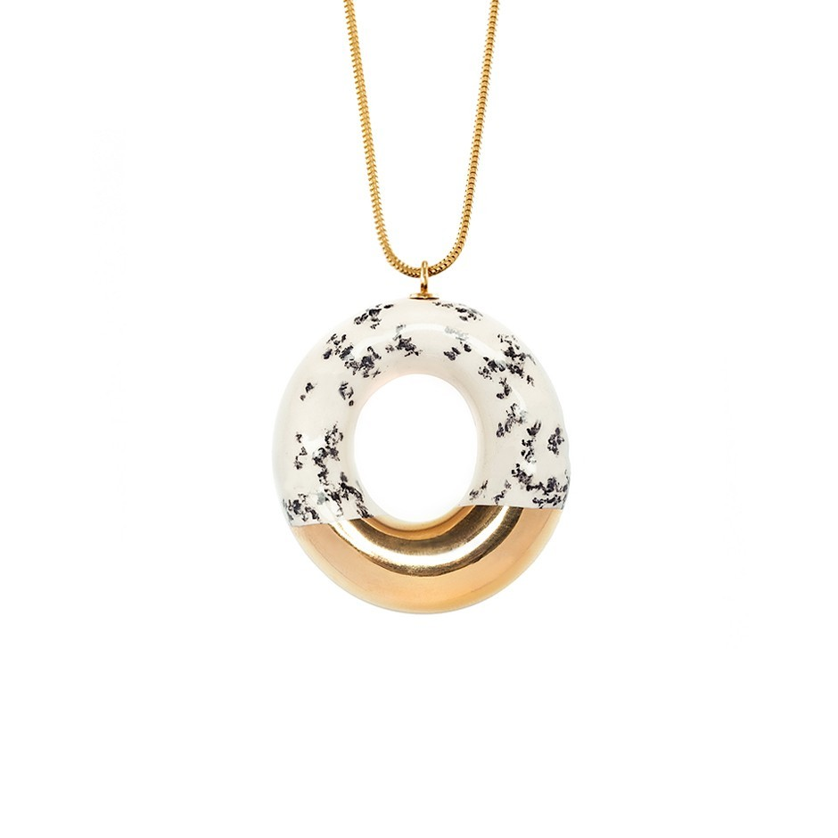 MILKY DOUGHNUT WITH POPPY SEEDS AND GOLD GLAZE